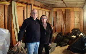 Point Pleasant Beach — The beachfront home of Vincent and Carla Vitale was severely damaged in superstorm Sandy, yet they are still battling with their insurance companies what they feel is a fair and proper reimbursement. / Tom Spader/Asbury Park Press